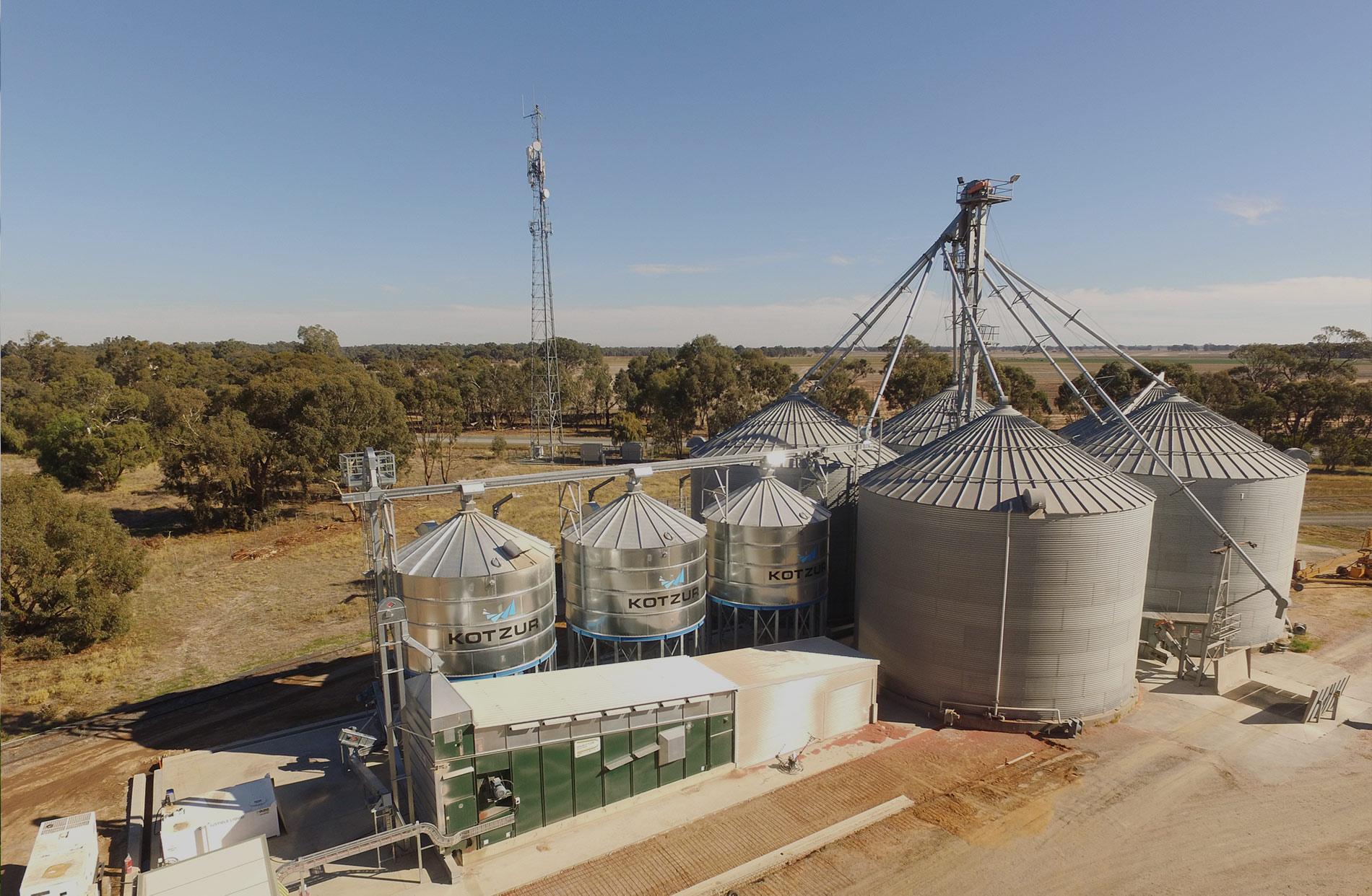 grain silo storage